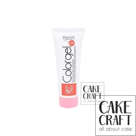 Χρώμα Πάστας της Modecor - Color gel Ροζ 100g