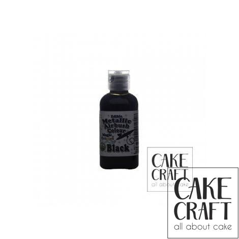Μεταλλικό Χρώμα Αερογράφου της Magic Colours - Μαύρο 55ml