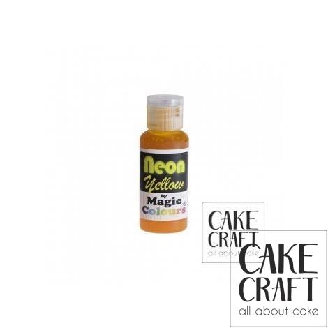 Χρώμα πάστας Neon της Magic Colours - Κίτρινο 32ml (Neon Yellow)