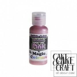 Μεταλλικό Υγρό Χρώμα της Magic Colours - Ροζ 32ml (Metallic Pink )