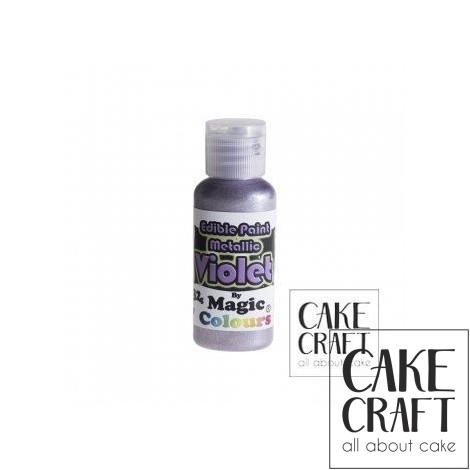 Μεταλλικό Υγρό Χρώμα της Magic Colours - Βιολετί 32ml (Metallic Violet)