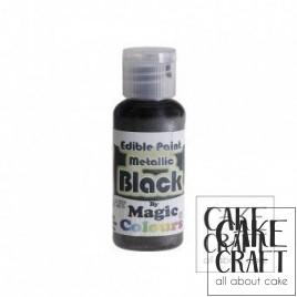 Μεταλλικό Υγρό Χρώμα της Magic Colours - Μαύρο 32ml (Metallic Black )