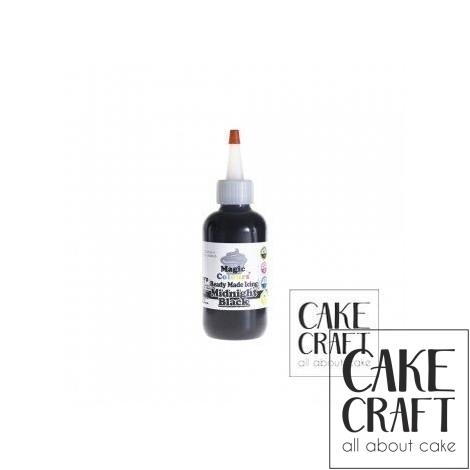 Χρωματιστό Γλάσο έτοιμο προς χρήση - Μαύρο 165ml (Black Icing)