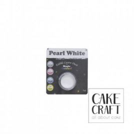 Χρώμα Φινιρίσματος σε σκόνη της Magic Colours - Λευκό Περλέ 7ml (Pearl White)