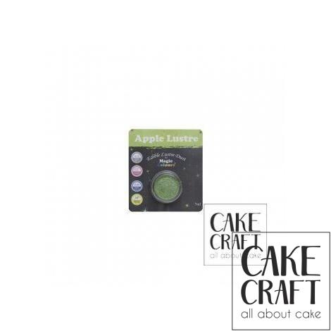 Χρώμα Φινιρίσματος σε σκόνη της Magic Colours - Γυαλιστερό Πράσινο του Μήλου 7ml (Apple Lustre)
