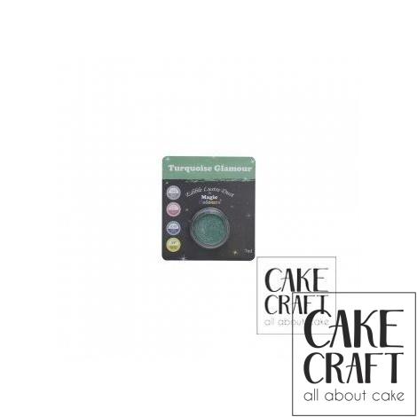 Χρώμα Φινιρίσματος σε σκόνη της Magic Colours - Λαμπιρίζων Τυρκουάζ 7ml (Turquoise Glamour )
